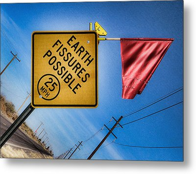 Earth Fissures Possible Metal Print