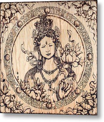 Earth Goddess Metal Print by Nozomi Takeyabu