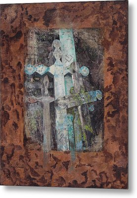 Metal Print featuring the mixed media Earth Lord Shrine II by Carla Woody