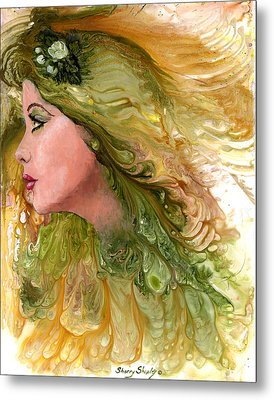 Earth Maiden Metal Print by Sherry Shipley