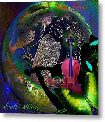 Earth Melody Metal Print by Joseph Mosley