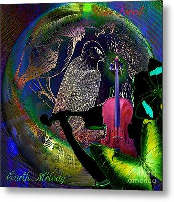 Earth Melody Metal Print