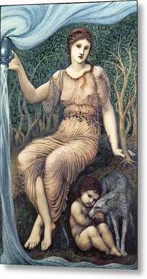 Earth Mother, 1882 Gesso Metal Print