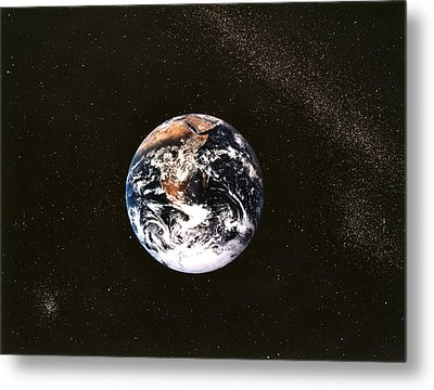 Earth Seen From Apollo 17 Africa And Antarctica Visible Metal Print by Anonymous