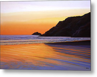Earth Sunrise Sea Metal Print by Paul Meijering