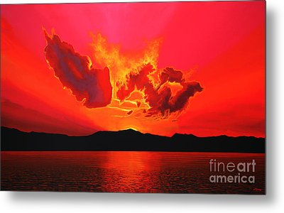 Earth Sunset Metal Print