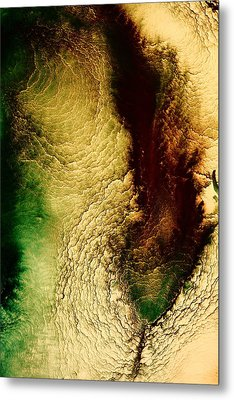 Earth Tones Abstract Art Depths Of The Grand Canyon  Metal Print