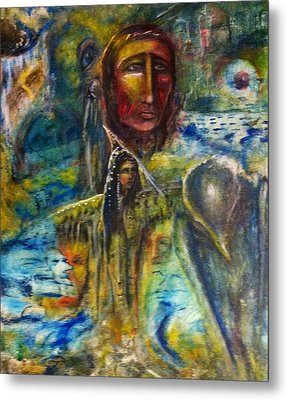 Earth Woman 2 Metal Print