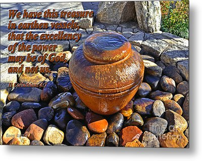 Earthen Vessels Metal Print by Larry Bishop