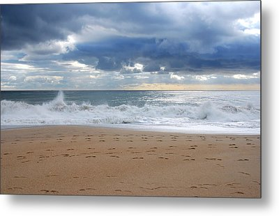 Earth's Layers - Jersey Shore Metal Print by Angie Tirado