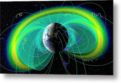 Earth's Radiation And Plasma Belts Metal Print by Nasa/scientific Visualization Studio