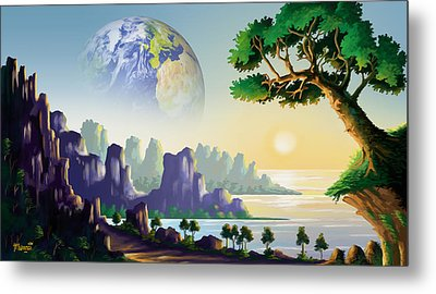 Earth's Sister Metal Print by Anthony Mwangi