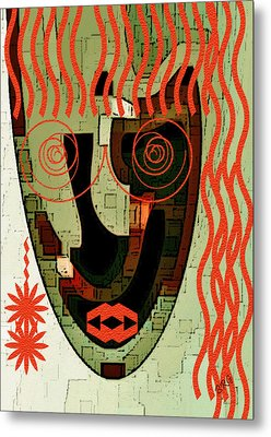 Earthy Woman Metal Print by Ben and Raisa Gertsberg