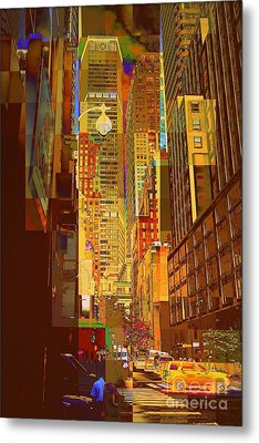 East 45th Street - New York City Metal Print by Miriam Danar