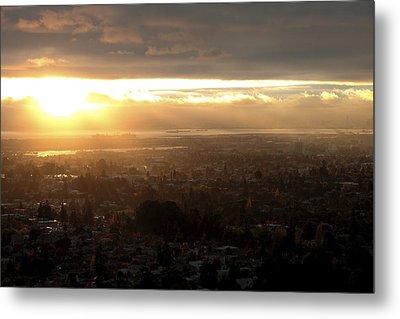 Metal Print featuring the photograph East Bay Sunset by Lennie Green