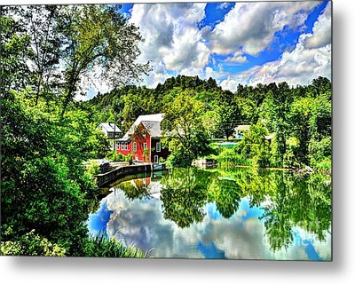 East Calais Mill Pond Metal Print