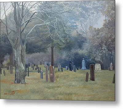 East End Cemetery Amagansett Metal Print by Barbara Barber