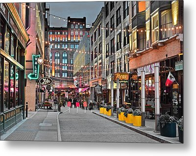 East Fourth Street In Cleveland Metal Print