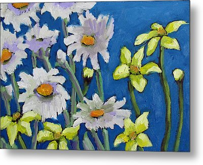 Metal Print featuring the painting East Garden I by Susan  Spohn