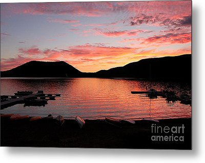 East Lake Sunset Metal Print by Erica Hanel