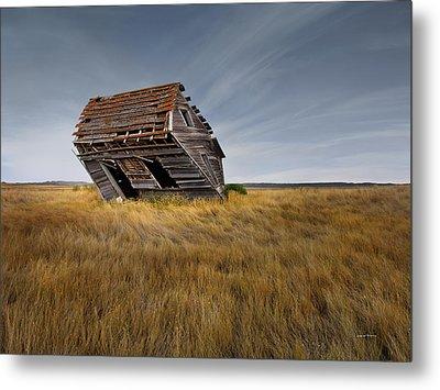 East Montana Texture Metal Print by Leland D Howard