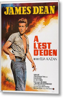 East Of Eden, French Poster Art, James Metal Print by Everett