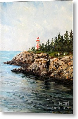 East Quoddy Head Light Metal Print by Lee Piper
