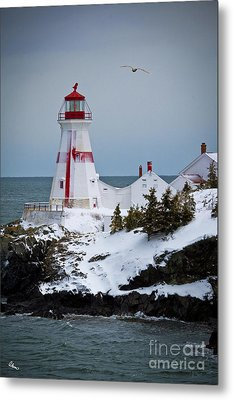 East Quoddy Head Lighthouse Metal Print by Alana Ranney