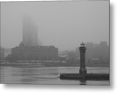 Metal Print featuring the photograph East River Nyc by Steven Macanka