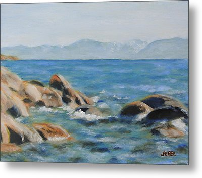 East Shore Rocks Metal Print