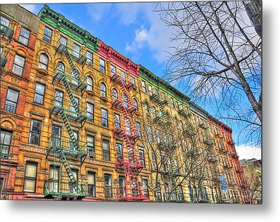East Village Buildings On East Fourth Street And Bowery Metal Print by Randy Aveille