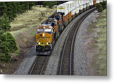 Eastbound Freight Metal Print