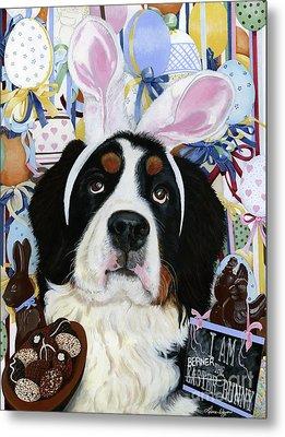 Easter Berner Bunny Duties Metal Print by Liane Weyers