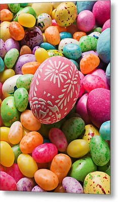 Easter Egg And Jellybeans  Metal Print by Garry Gay