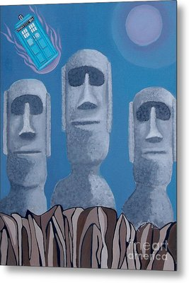 Easter Island Revisited Metal Print by Anthony Morris