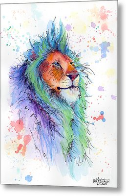 Easter Lion Metal Print by Arleana Holtzmann