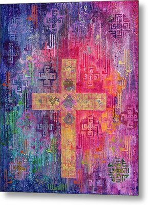 Eastern Cross Metal Print by Laila Shawa
