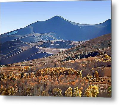 Eastern Sierra Nevada Autumn Metal Print by Wernher Krutein