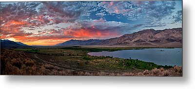 Eastern Sierra Sunset Metal Print by Cat Connor
