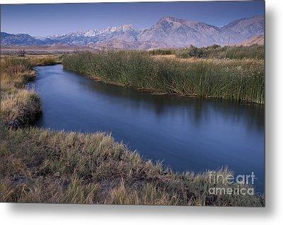 Eastern Sierras And Owens River Metal Print by John Shaw
