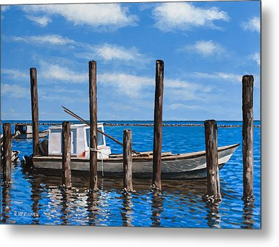 Eastpoint Gray Metal Print