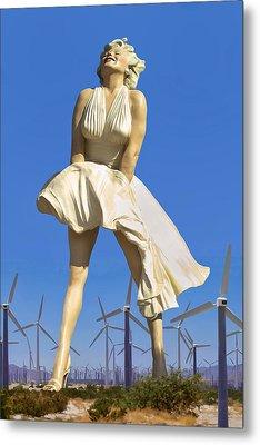 Cool Breeze Marilyn Palm Springs Metal Print by William Dey