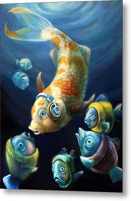 Easy Listening Streaker Fish Among The Sweater Fish Metal Print by Vanessa Bates