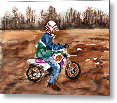 Easy Rider Metal Print by Clara Sue Beym