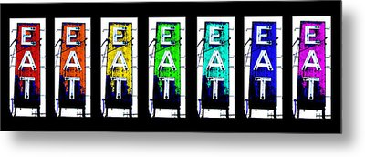 Eat The Rainbow Metal Print by Jame Hayes