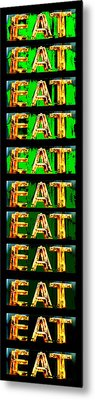 Eat Up Metal Print by Jame Hayes
