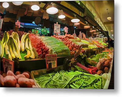 Eat Your Fruits And Vegetables Metal Print by Scott Campbell