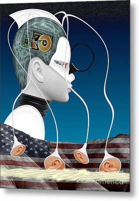 Eavesdropper Metal Print by Keith Dillon