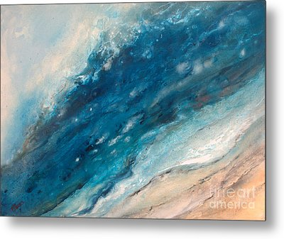 Ebb And Flow Metal Print by Valerie Travers