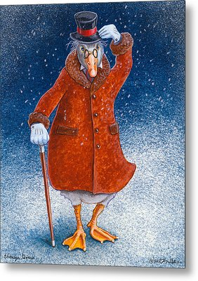 Ebenezer Goose... Metal Print by Will Bullas